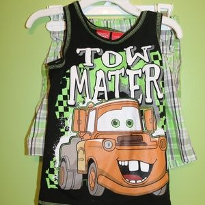 Disney Tow Mater Tank and shorts set size 3T